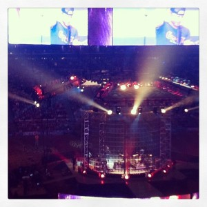 Dierks Bentley performs after the Rodeo